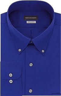 Men's Dress Shirts Regular Fit Silky Poplin Solid