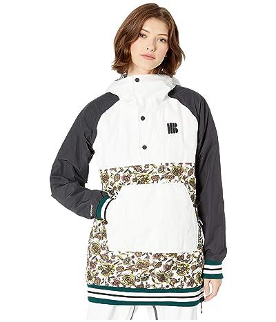 Burton Cinder Anorak Jacket (True Blacks/Stout White/White Floral) Women