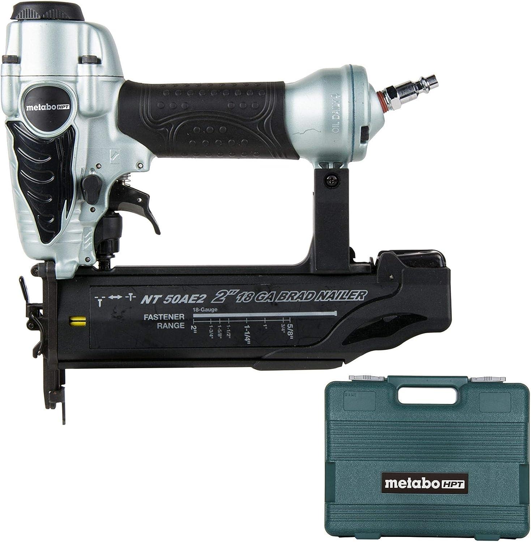 Metabo NT50AE2 HPT 18 Gauge Pneumatic Brad Nailer Kit