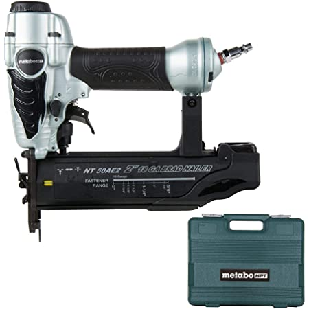 Metabo HPT Brad Nailer Kit, Pneumatic, 18 Gauge, 5/8-Inch up to 2-Inch Brad Nails, Tool-less Depth Adjustment, Selective Actuation Switch, 5-Year Warranty (NT50AE2)