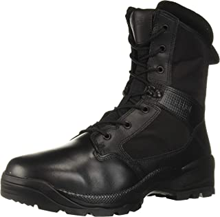 "5.11 Tactical Men's ATAC 2.0 8"" Leather Black Combat Military Side Zip Boots, Style 12391"