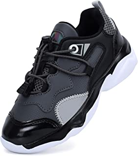 Leisfit Lightweight Sports Running Shoes Athletic Casual Fashion Sneakers for Kids Boys Girls