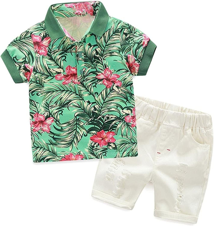 Baby Boys Hawaiian Shirt and Shorts Clothing Set