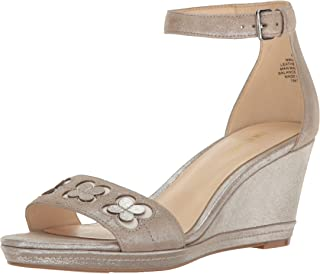 Nine West Women's Julian Metallic Wedge Sandal