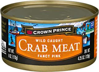 Crown Prince Fancy Pink Crab Meat, 6-Ounce Cans (Pack of 12)