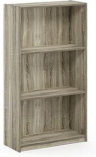 FURINNO Basic 3-Tier Bookcase Storage Shelves, Sonoma Oak