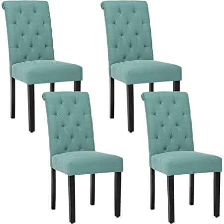 Homepop Parsons Classic Upholstered Accent Dining Chair Set Of 2 Teal And Cream Geometric Chairs