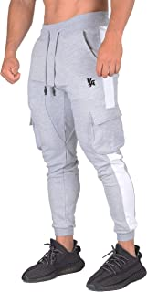 YoungLA Cargo Joggers Men Skinny Tapered Sweatpants Slim Gym Pants 210