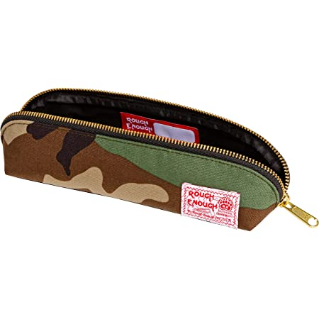 Rough Enough Canvas Small Multi Tool Pouch Zipper Tools Bag Pencil Case Stationary Organizer Pocket Box With Military Heavy Duty for Boy Teen Student Men Garden School Office Outdoor Travel Trip Home