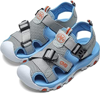 Sponsored Ad - Boys Girls Closed Toe Sandals Hiking Sport sandal kids Soft Sole Buckle Casual For Outdoor