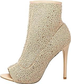 Aldo Heel Boots for Women - Beige, Beige, 6 US