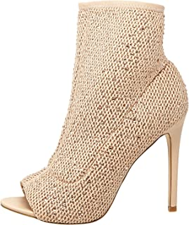 Aldo Heel Boots for Women - Beige, Beige, 6 US