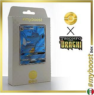 Kingdra-GX 66/70 Full Art - #myboost X Sole E Luna 7.5 Trionfo dei Draghi - Box of 10 Pokemon Italian Cards