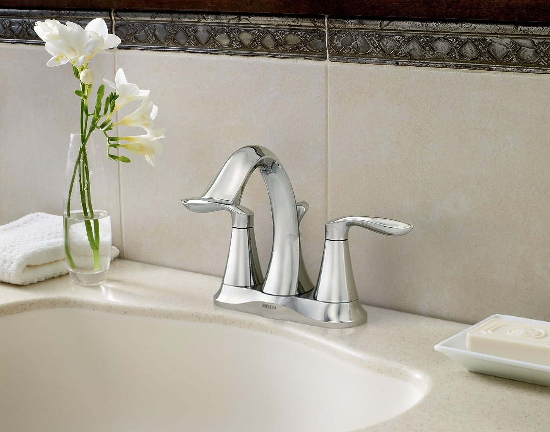 Moen 6410 Eva Two-Handle Centerset Bathroom Sink Faucet