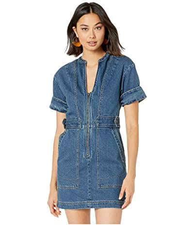 Free People Dream On Denim Mini (Indigo Blue) Women
