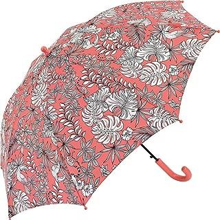 Creative Umbrella Children's Semi-Automatic Long Straight Umbrella Umbrella Parasol Ultralight Rain and Rain Dual-use Umbrella HYBKY (Color : Red)