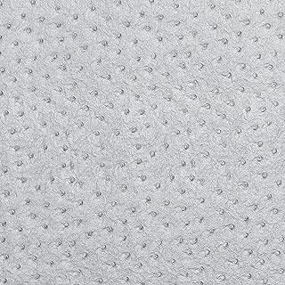 G271 Shiny Silver Metallic Emu Ostrich Upholstery Vinyl by The Yard
