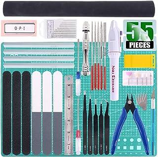 Keadic 55Pcs Professional Modeler Basic Tools Craft Set Hobby Building Tools Kit for Gundam Car Model Building Repairing a...