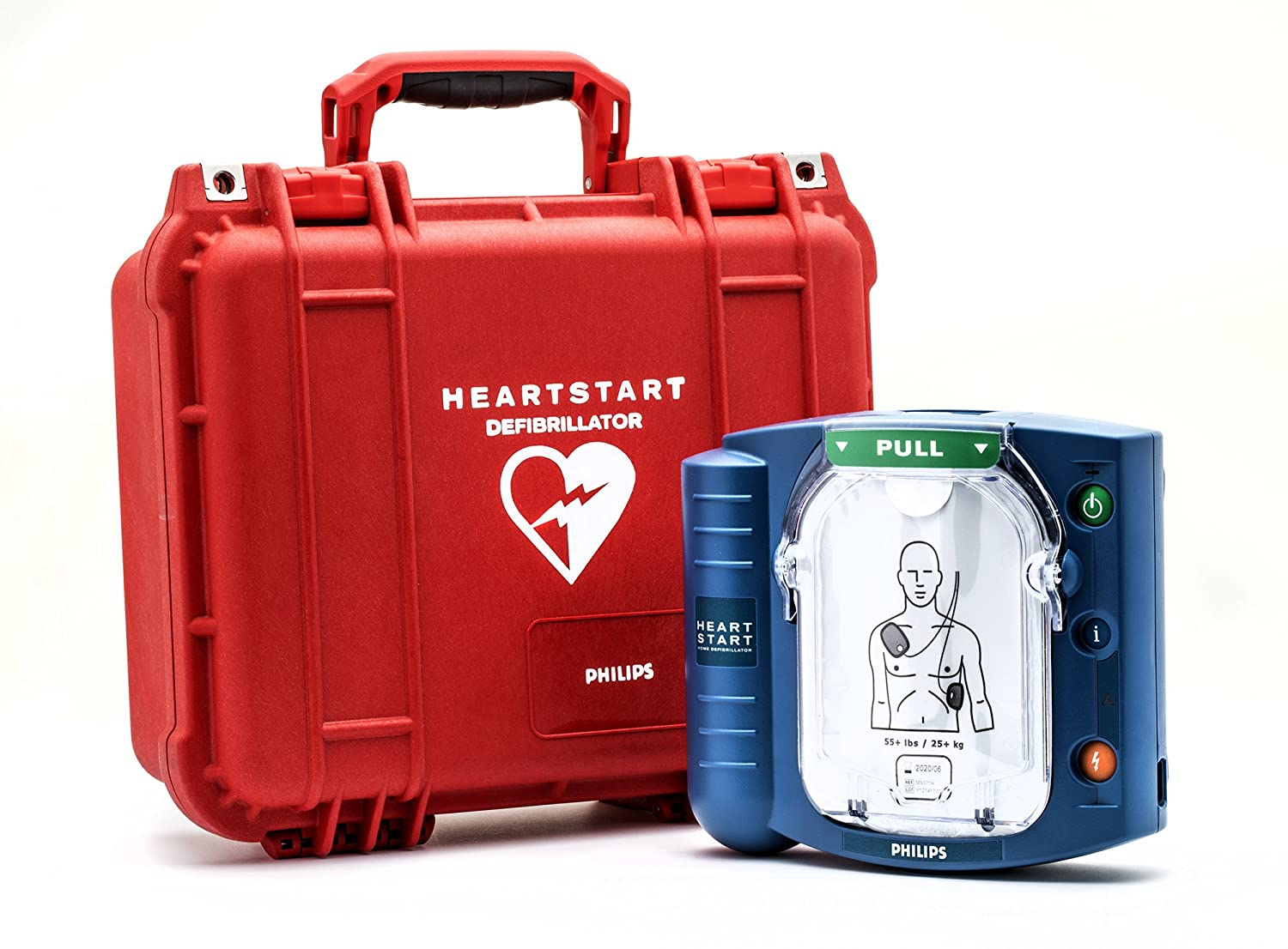 Philips HeartStart Onsite AED with Plastic Waterproof Carry Case, Model:M5066A-CO3