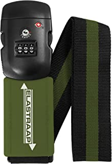 Luggage Strap ELASTRAAP Superior Strength NON-SLIP with TSA Combination Lock (1 Strap, Military)