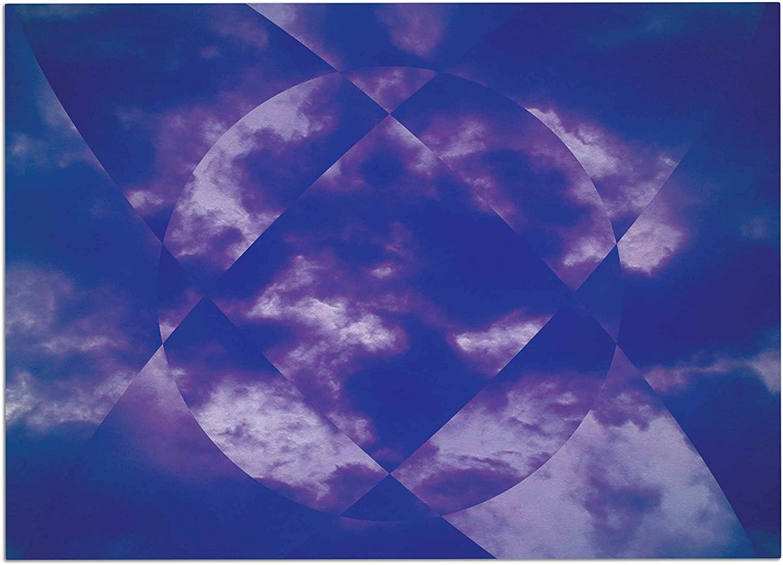 KESS InHouse ME1016ADM02 Matt Eklund Spectral Purple bluee Dog Place Mat, 24  x 15