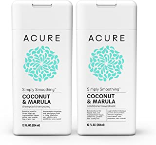 Acure Simply Smoothing Shampoo & Conditioner, Coconut, 12 Fluid Ounces