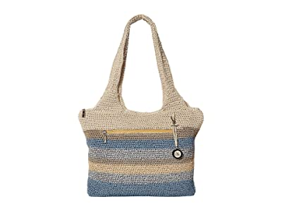 The Sak Casual Classics Large Tote (Blue Harmony Stripe) Tote Handbags