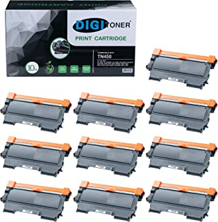 TonerPlusUSA TN450-10PK New Compatible Brother HL TN420 High Yield, Black Toner Cartridge, 10 Piece