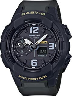 Casio Womens Baby G BGA230-3B Black Resin Japanese Quartz Diving Watch