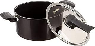 Happycall Nonstick Diamond Pot, 3-Quart, Dark Brown, Dishwasher Safe, PFOA Free, Sauce pot, Chili/soup pot, with Glass Lid, 2-in-1 Pot