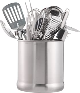 VonShef Stainless Steel Utensil Holder Large Capacity Organizer Caddy, Great for Keeping Your Kitchen Tidy, 7 Inches High
