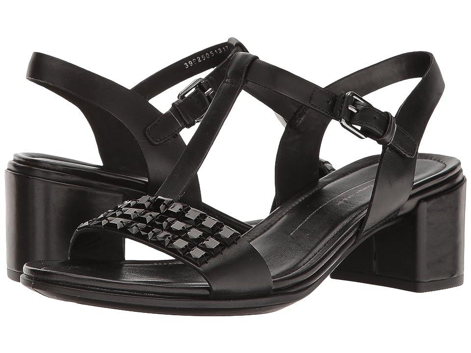 ECCO Shape 35 Studded Sandal (Black Cow Leather) Women