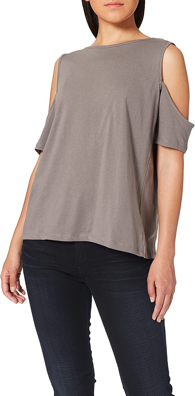 trueprodigy Casual Mujer Marca Camiseta Basico Ropa Retro Vintage Rock Vestir Moda Cuello Redondo Hombro Sin Tirantes Slim Fit Designer Fashion Blusa