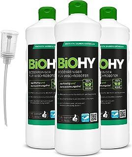 BiOHY Środek do czyszczenia podłóg dla robotów mopujących (3 x butelka 1l) + dozownik   Koncentrat do wszystkich robotów m...