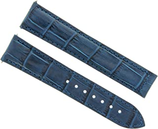 20MM LEATHER STRAP WATCH BAND FOR 41MM OMEGA SEAMASTER PLANET OCEAN BLUE TOP QLY