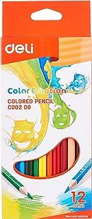 Deli EC00200 Basswood Colour Pencil, Assorted (12 Piece)