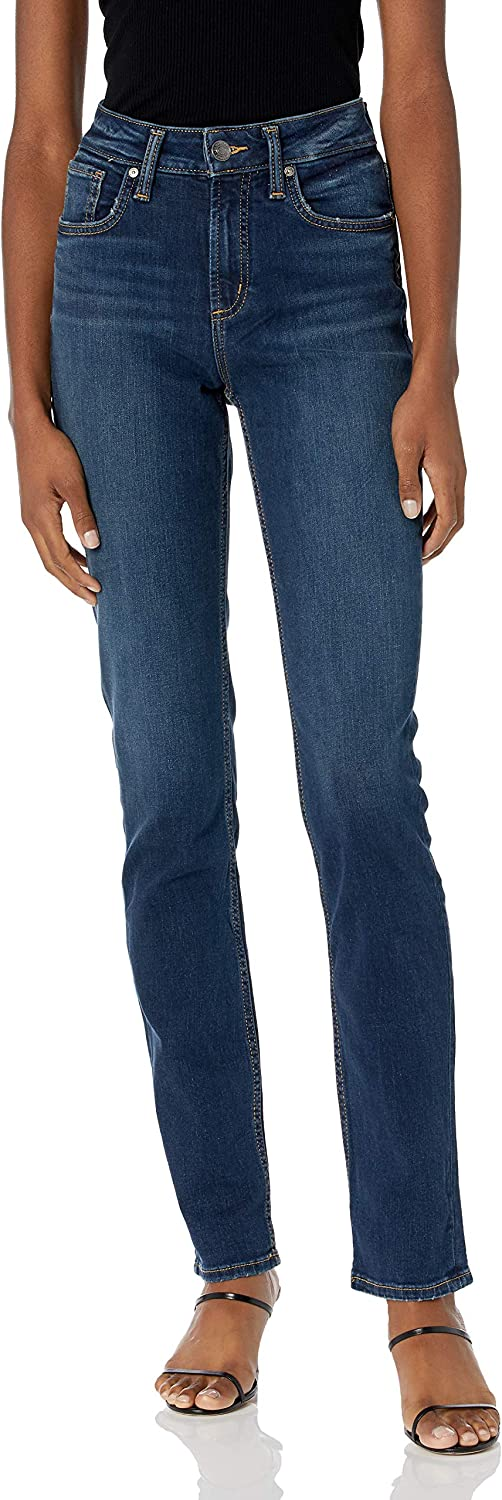 Silver Jeans Co. Women's Avery Curvy Leg Rise Fit Philadelphia Mall High Straight Sales for sale