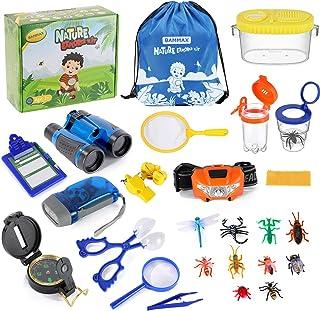 Bammax Kit Exploration d'enfants, Outdoor Explorer Set, Jumelles Enfant Kit Bug Catcher avec Bug Containers , Jouets Enfan...