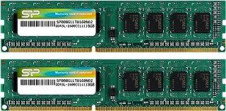 سيليكون Power DDR3 16GB (2 x 8GB) 1600MHz (PC3 12800) 240-pin CL11 1.35V غير مصقول UDIMM الكمبيوتر المكتبي تحديث وحدة ذاكر...