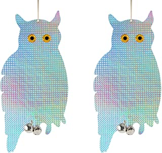 Bird Blinder Reflective Hanging Owl - Pest Repellent Control (2 Pack)