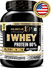 MuscleXP Raw Whey Protein Concentrate 80% Powder, Unflavored, 1Kg (2.2lb)