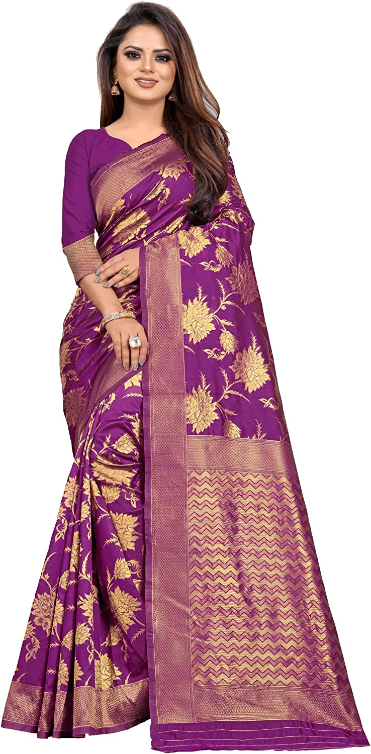 outlet kfgroup Women's Jacquard Silk Saree Dresses Piece Blouse Max 61% OFF We with
