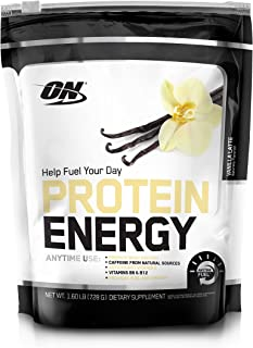 OPTIMUM NUTRITION On Protein Energy Supplement, Vanilla Latte, 1.6 Pound