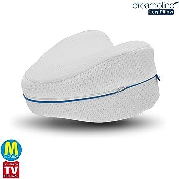 Mediashop Dreamolino Leg Pillow – ergonomisches Seitenschläferkissen für optimale Unterstützung – Memory Foam Kissen für Seitenschläfer stützt Beine, Knie und Rücken