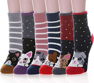 Velice Womens Soft Thick Crew Winter Socks Heavy Thermal Warm Comfortable Socks 5 Pack