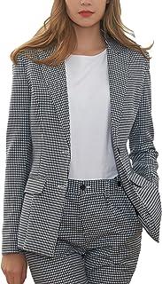 Hanayome Women's One Button Slim Fit Two Pieces Blazer Jacket Trousers MI5