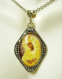 black madonna necklace