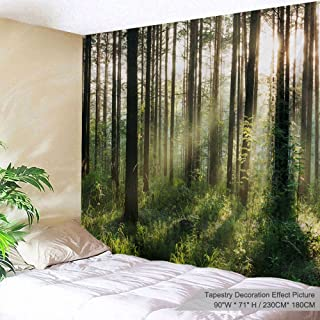 PROCIDA Home Wall Hanging Nature Art Polyester Fabric Tree Theme Tapestry, Wall Decor for Dorm Room, Bedroom, Living Room, Nail Included - 90