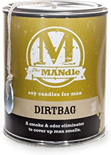 Eco Candle Co. The Mandle Soy Candle for Men - Scents of Melon & Tea - Dirtbag, 15 oz. Paint Can - 100% Soy Wax, No Lead, ...