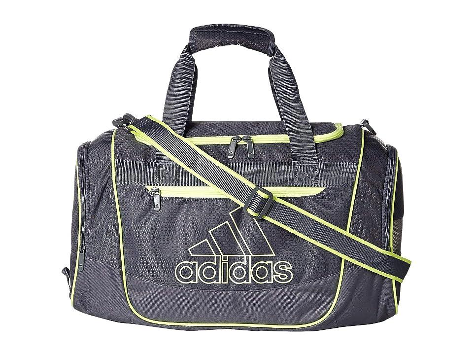 adidas Defender III Small Duffel (Onix/Hi-Res Yellow) Duffel Bags, Black